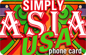 Simply Asia USA calling card