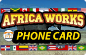 PT-1 Africa Works Phone Card calling card